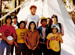 IYA - Bill Walton with Group of Kids